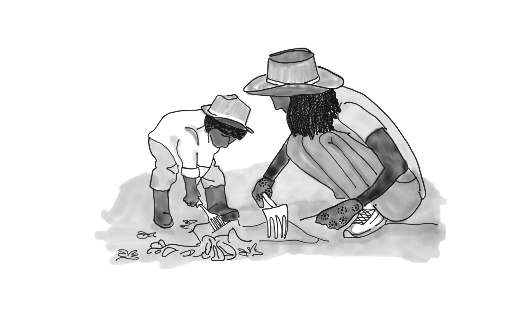 Woman and Kid Farm Sketch.png
