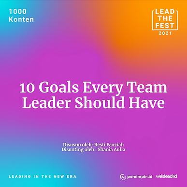 10 Goals Every Team Leader Should Have