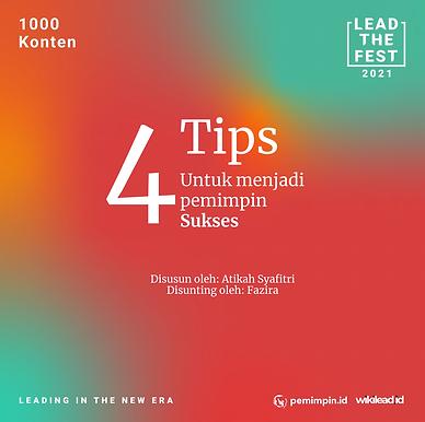 4 Tips Untuk menjadi pemimpin Sukses
