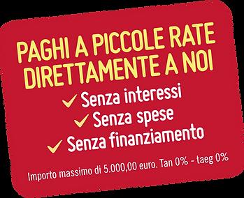 pagamenti dilazionati a rate