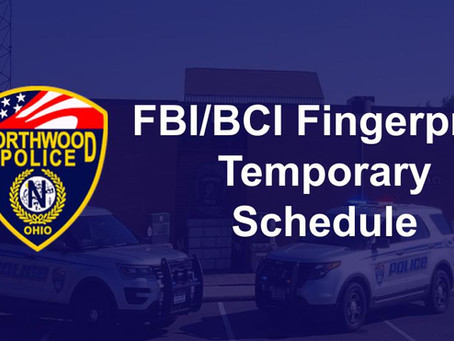 Changes in Fingerprinting Schedule