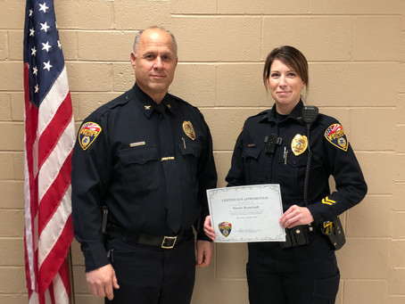Romstadt promoted to the rank of Sergeant