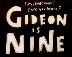 Gideon is Nine!