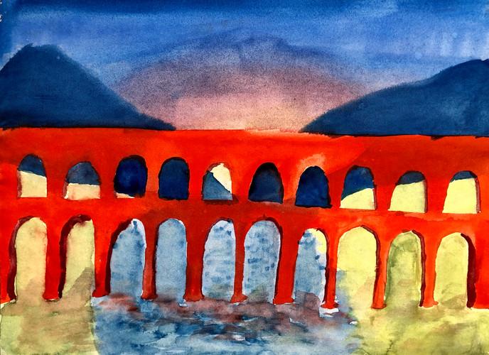 Aquaducts (watercolor)