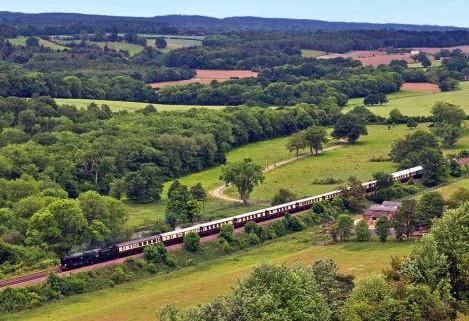 Británií luxusním vlakem