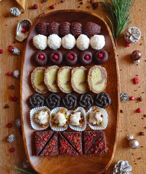 Vánoční raw cukroví 2017 Luxusní kolekce zdravého vánočního cukroví pro potěšení ze svátečního mlsán