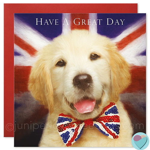 Labrador Retriever Puppy Card  'HAVE A GREAT DAY'