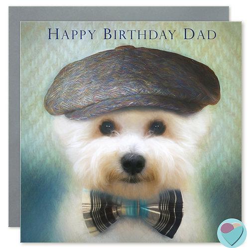 Dad Birthday Card 'HAPPY BIRTHDAY DAD'