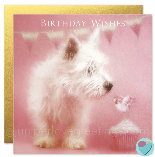 Birthday Card Westie West Highland Terrier Dog Lovers Birthday Wishes
