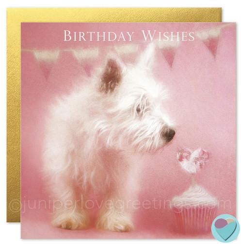 West Highland White Terrier Birthday Card