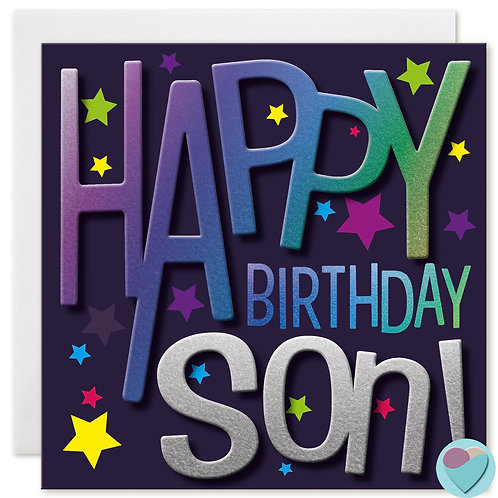 Son Birthday Card HAPPY BIRTHDAY SON