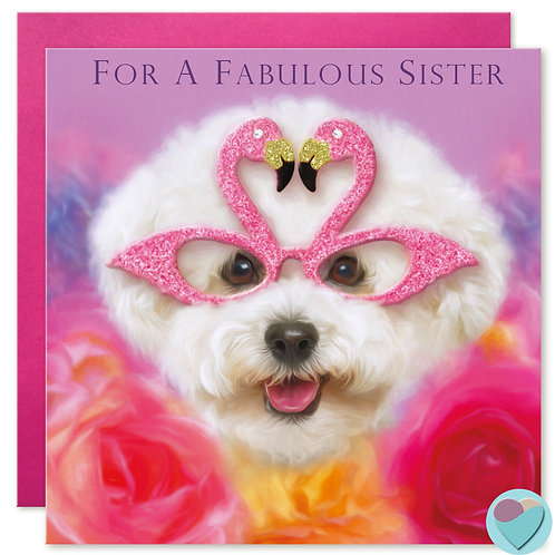 Sister Birthday Card  'FOR A FABULOUS SISTER'