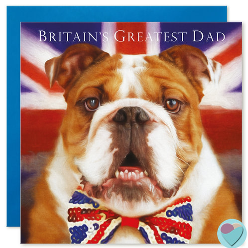 Dad Birthday Card  'BRITAIN'S GREATEST DAD'