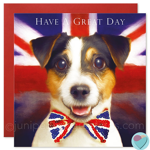 Jack Russell Birthday Card or Father's Day 'HAVE A GREAT DAY'
