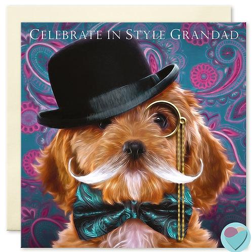 Grandad Greeting Card 'CELEBRATE IN STYLE GRANDAD'