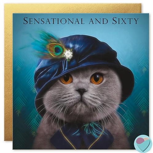 60th Birthday Card 'SENSATIONAL AND SIXTY'