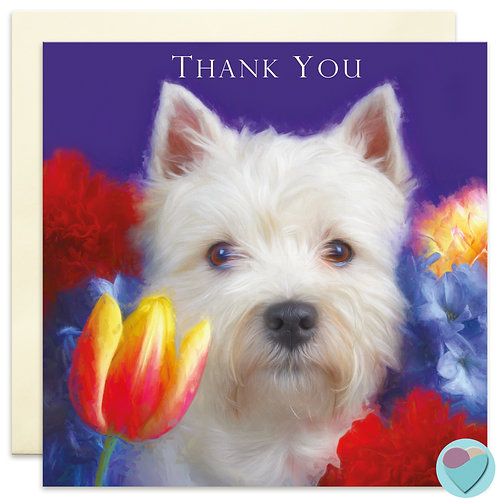 West Highland Terrier 'THANK YOU' Greeting Card