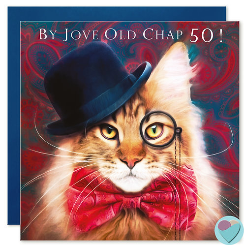 50th Birthday Card 'BY JOVE OLD CHAP 50!'