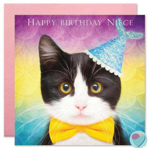 Niece Birthday Card - 'HAPPY BIRTHDAY NIECE'