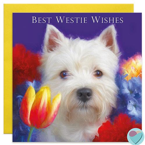 Westie Birthday Card  'BEST WESTIE WISHES'
