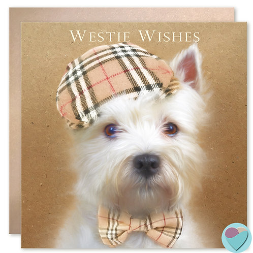 West Highland White Terrier Birthday Card 'WESTIE WISHES'