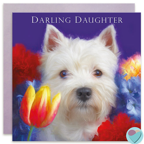 West Highland Terrier Daughter Card 'DARLING DAUGHTER'