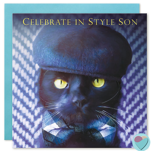 Son Birthday Card 'CELEBRATE IN STYLE SON'