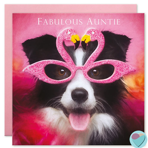 Auntie Birthday Card 'FABULOUS AUNTIE'