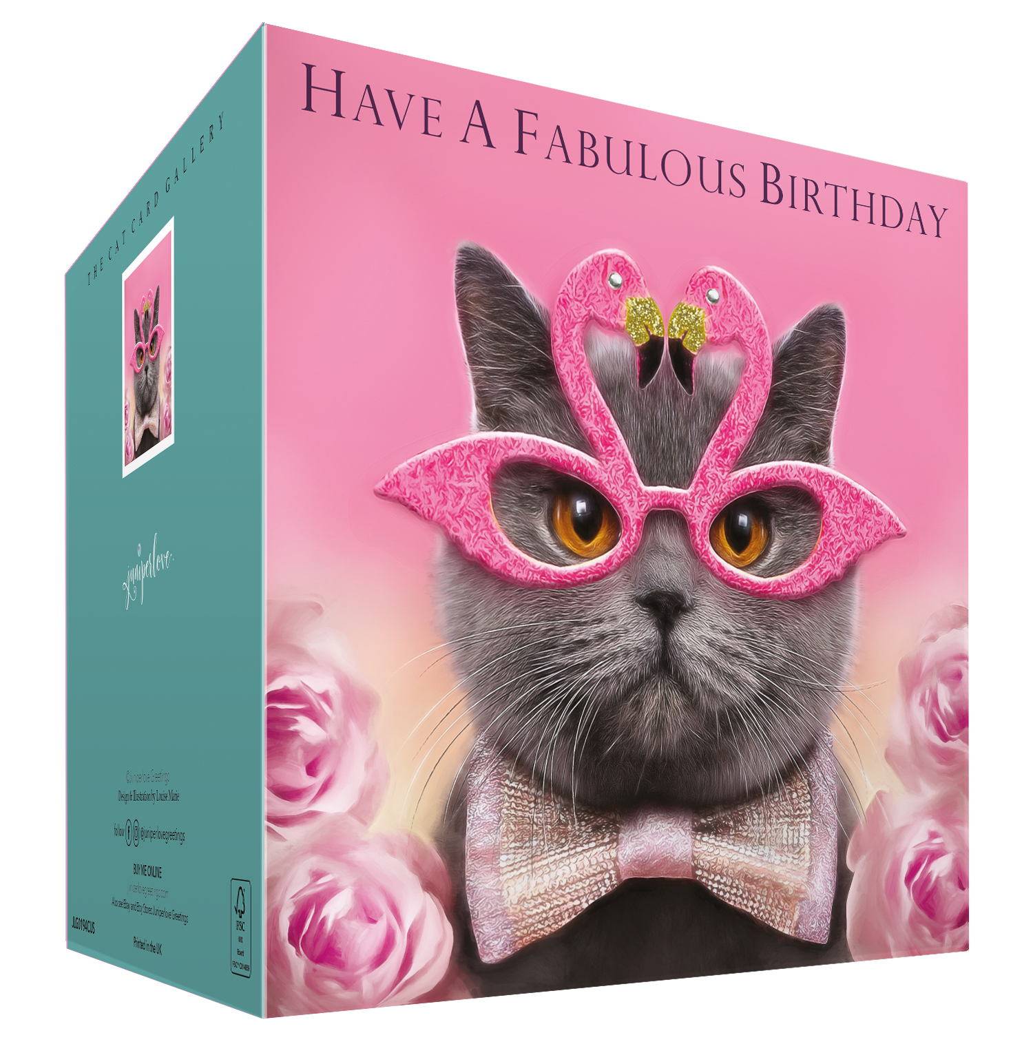 British Blue Cat Birthday Card