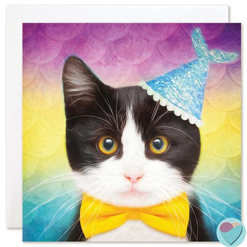 Tuxedo Kitten Card - BLANK