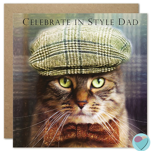 DAD Birthday Card 'CELEBRATE IN STYLE DAD'