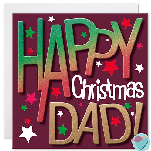Dad Christmas Card by Juniperlove
