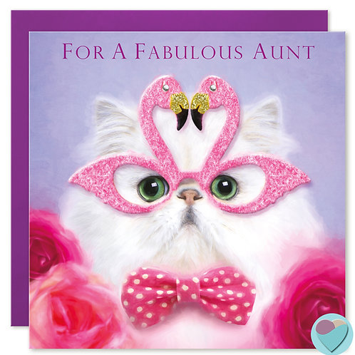 Aunt Birthday Card 'FOR A FABULOUS AUNT'