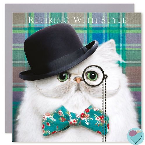 Retirement Cat Card 'RETIRING WITH STYLE'