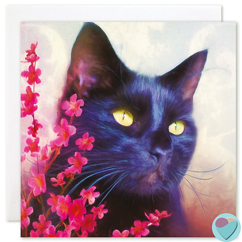 Black Cat Art Card