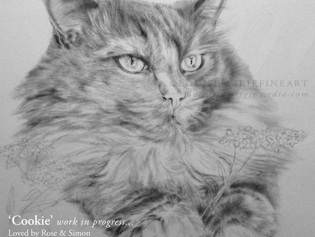 Commission Day is Wednesday - I will be finishing the lovely 'Cookie'