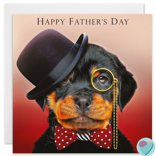 Rottweiler Dog Father's Day Card 'HAPPY FATHER'S DAY'