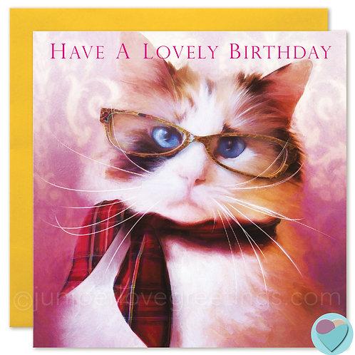 Ragdoll Cat Birthday Card 'HAVE A LOVELY BIRTHDAY