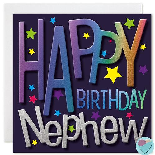 Nephew Birthday Card HAPPY BIRTHDAY NEPHEW