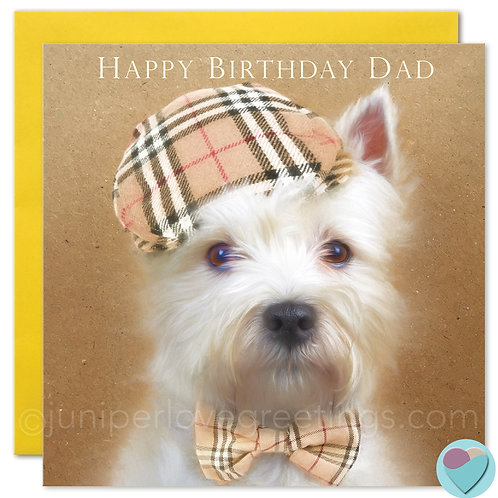 Westie Dad Birthday Card