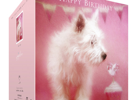 New and improved West Highland White Terrier birthday card now in store!