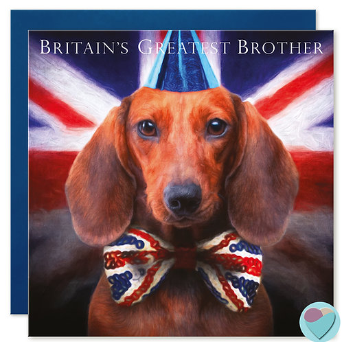 Brother Greeting Card 'BRITAINS GREATEST BROTHER'