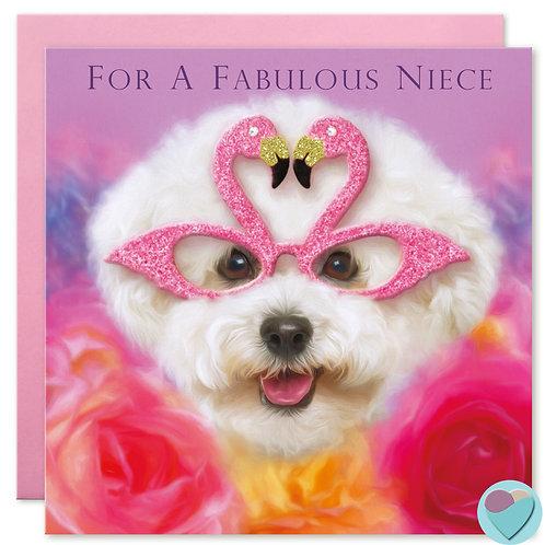 Niece Birthday Card  'FOR A FABULOUS NIECE'