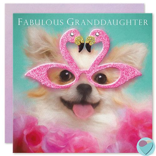 Granddaughter  Birthday Card 'FABULOUS GRANDDAUGHTER'