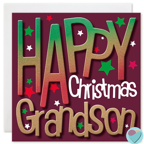 Grandson Christmas Card by Juniperlove