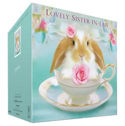 Dwarf lop bunny card