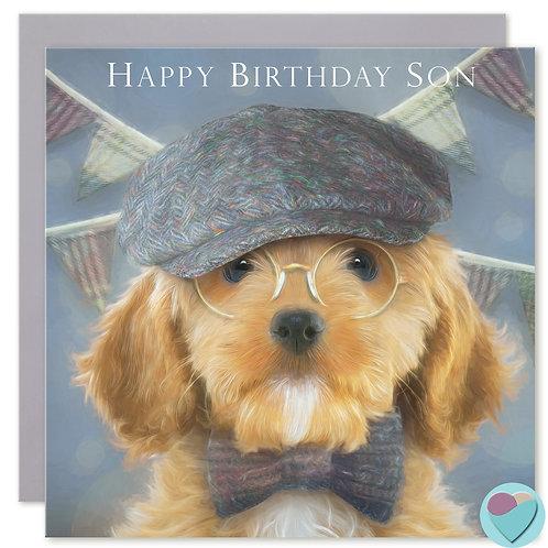 Son Birthday Card 'HAPPY BIRTHDAY SON'