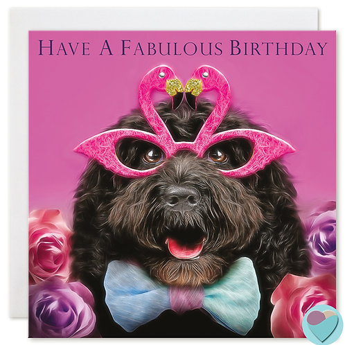 Cockapoo Birthday Card 'HAVE A FABULOUS BIRTHDAY'