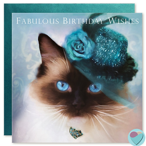 Ragdoll Cat Birthday Card 'FABULOUS BIRTHDAY WISHES'