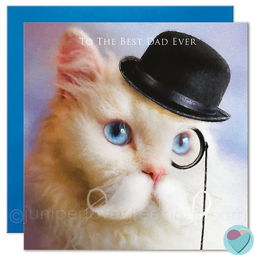 Selkirk Rex Cat Card for Dads